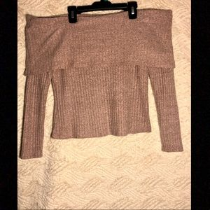 Charlotte Russe off the Shoulder Sweater